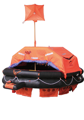 throw-over type inflatable life raft